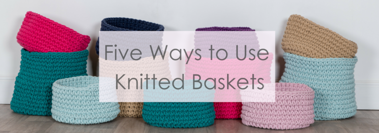 knitted baskets storage solutions