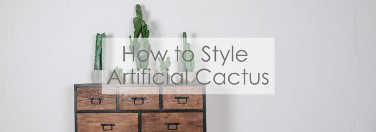 how to style artificial cactus