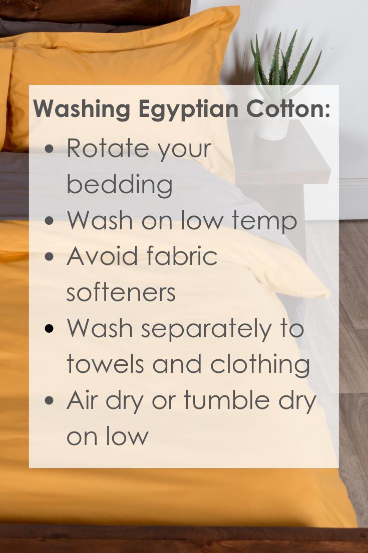 Washing Egyptian Cotton