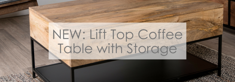 Lift Top Coffee Table with Storage banner