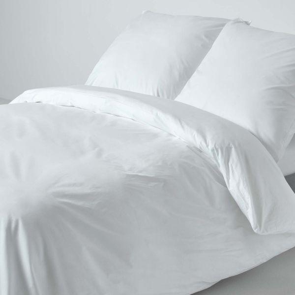 White Continental Egyptian Cotton Duvet Cover Set 200 TC