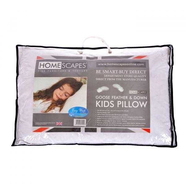 Kids Goose Feather & Down 40 x 60 cm Toddler Pillow