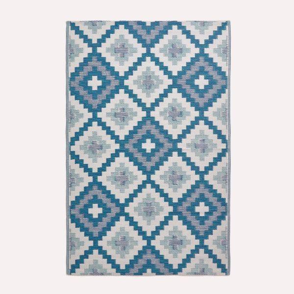 Mia Aztec Blue Outdoor Rug
