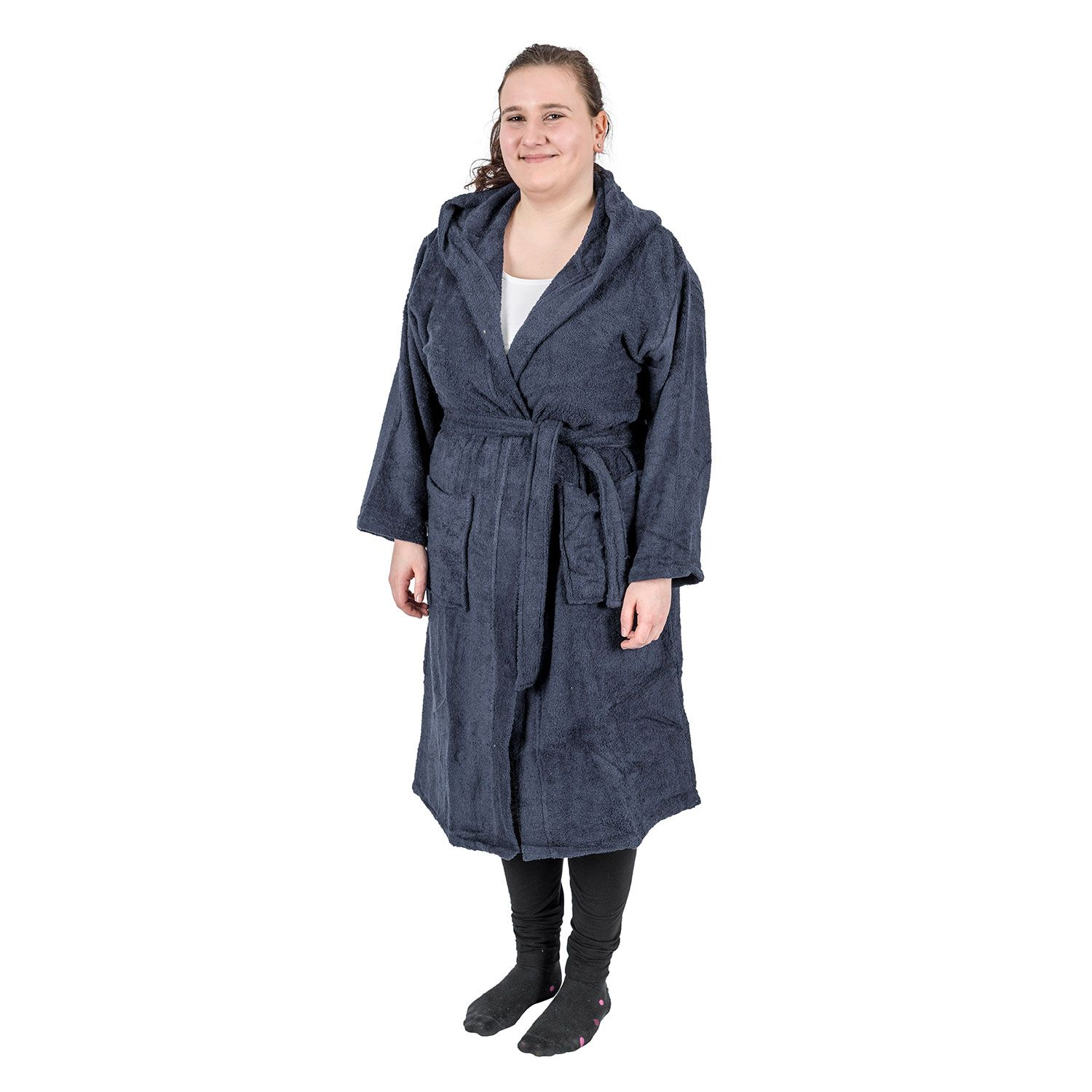 Unisex 100/% Egyptian Cotton Robes Terry Towelling Hooded or Shawl Bath Robe