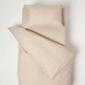 Natural Linen Cot Bed Duvet Cover Set 120 x 150 cm