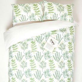 Botanical Digitally Printed Cotton Duvet Cover Set