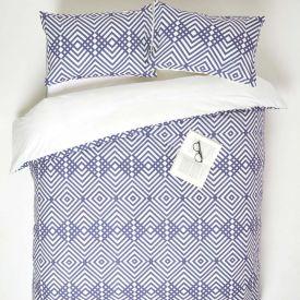 Geometric Digitally Printed Cotton Duvet Cover Set