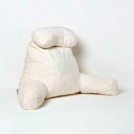 Natural Reading Pillow Memory Foam Filling & Velvet Cover, Extra Large