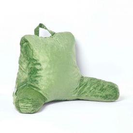 Green Reading Pillow Memory Foam Filling & Velvet Cover, Standard
