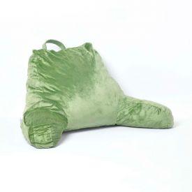 Green Reading Pillow Memory Foam Filling & Velvet Cover, Large