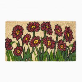 Flower Garden Coir Door Mat