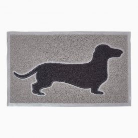 Black Dog Silhouette 100% Recycled Rubber Non-Slip Doormat