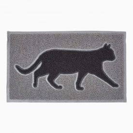 Black Cat Silhouette 100% Recycled Rubber Non-Slip Doormat