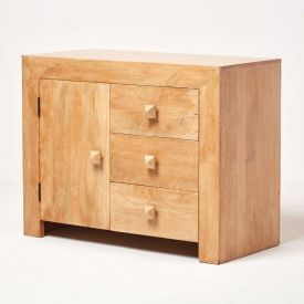 Dakota Small Sideboard with 3 Drawers Oak Shade