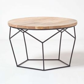 Orion Round Coffee Table, Natural