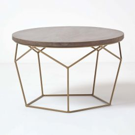 Orion Round Coffee Table, Brown