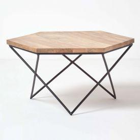 Orion Hexagon Coffee Table, Natural