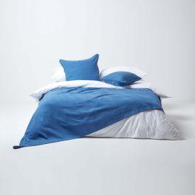 Cotton Rajput Ribbed Blue Throw, 255 x 360 cm