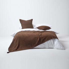 Cotton Rajput Ribbed Chocolate Throw, 255 x 360 cm