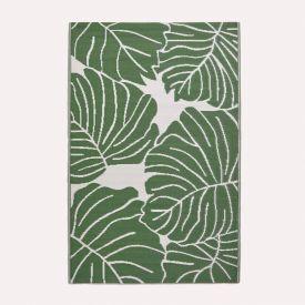 Ada Botanical White & Green Outdoor Rug