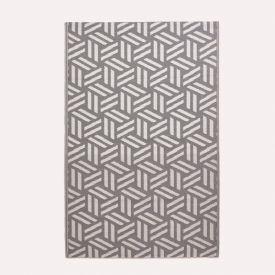 Luna Geometric White & Grey Outdoor Rug