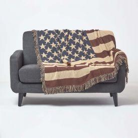 Cotton USA Flag Throw
