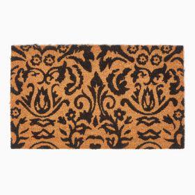 Black Scroll Baroque Coir Doormat