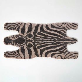 Coir Zebra Shaped Non-Slip Doormat