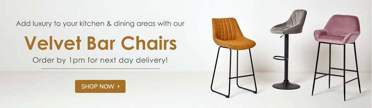 velvet bar chairs